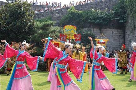 中华门城堡仿明入城仪式